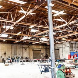 Inside of large building